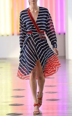 Striped Silk Georgette Flintoff Midi Dress by Preen by Thornton Bregazzi  Now Available on Moda Operandi