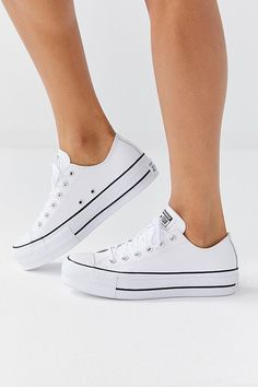Slide View: Converse Chuck Taylor All Star Lift Leather Sneaker Platform Converse, Converse Shoes, Converse Chuck Taylor All Star, Converse All Star, Chuck Taylor Sneakers, Chuck Taylors, High Top Converse Outfits, Sneakers Fashion, Fashion Shoes