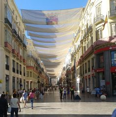 The amazing Calle Larios in Malaga - our most famous pedestrianised street (covered in Summer to keep it cooler!)