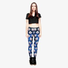 Rave Rebel is your one stop shop for EDM clothing, light up shoes, festival fashion and EDM apparel. Shop the best and latest selection of rave wear. Cat Leggings, Leggings Are Not Pants, Tights, Harem Pants, Pajama Pants, Galaxy Cat, Edm Outfits, Light Up Shoes, Blue Cats