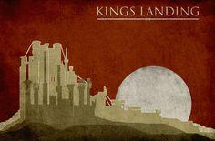 King's Landing - Minimalist Castles by Nicolas Hyde #agot #got #asoiaf
