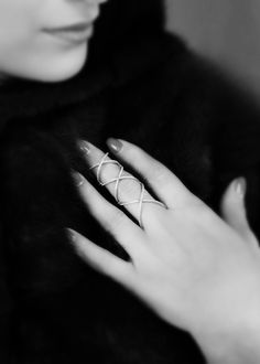 Rosenzweig Jewelry X Ring- first class diamonds setted in white gold