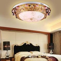 European Luxury Rose Crystal Bedroom Ceiling Lamp Creative Dining Room Ceiling Lamp Living Room Ceiling Lamp