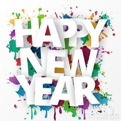 Happy new year images | Happy New Year. (Paint splashes) Happy New Month Quotes, Happy New Year Gift, Happy New Year Photo, Happy New Year Message, Happy New Year Images, Happy New Year Greetings, Quotes About New Year, Happy New Year 2019, New Year Gifts