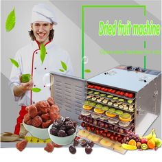 1PC Fruits and vegetables, nuts machine Herbs meat air drying machine Stainless steel dryers household food #Affiliate