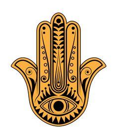 Hamsa Hand vector, Hand of Fatima vector clipart, Instant download by cartonus on Etsy