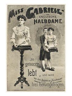 Freak Show Poster - Legless Woman Giclee Print