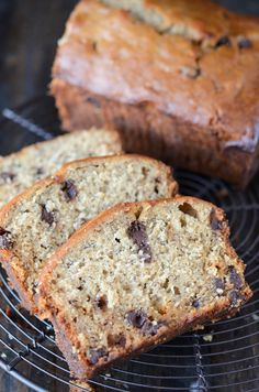 Peanut Butter Banana Chocolate Chip Bread