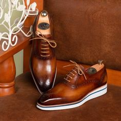 carlyle • vintage chestnut suede gaziano  girling shoes