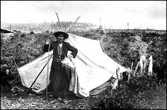 Chief Isaac of the Han, 1898. The Han lived along the Yukon River in Alaska and western Yukon Territory. A large camp was at the junction of the Klondike and Yukon rivers, the site of the first big gold strike in 1896. By 1898, 30,000 gold seekers had poured into Han territory. Hunting and timber cutting left the native people's  in poverty. Chief Isaac was so worried about the future of his people that he sent some of their sacred tribal possessions to Han elders in Alaska for safekeeping.
