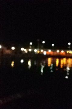 Blurred dock lights Dock Lights, Blurred Lights, Night Skies, Sky, Heaven, Heavens