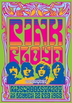 #PinkFloyd 22 February 1968 Rijschool in Leuven  by tarlotoys, €10.00