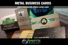 Metal Business Cards! START A CONVERSATION...WITHOUT SAYING A WORD - http://kauffsprinting.com/metal-business-cards/#utm_sguid=164936,1da7e147-d82b-25ad-5116-60957a3fe964