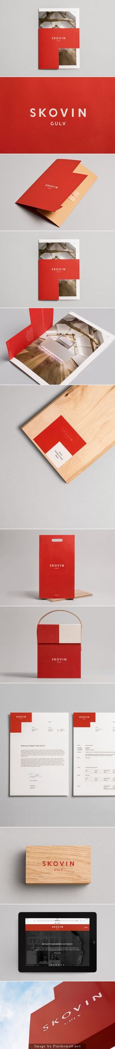 Skovin brand identity and collaterals designed by Heydays