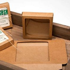 Shop our line of Kraft Paper Window Boxes for stationery, jewelry, and more. This 4 x x 5 box fits 5 Baronial envelopes and cards. Kraft Boxes, Shaped Cards, Plastic Sheets, Open Window, Window Boxes, Name Cards, Recycled Materials, Recycling, Stationery