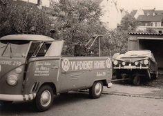 VW dienst T1 tow truck