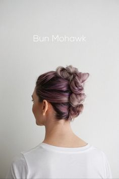 Bun Mohawk | 15 Gorgeous Homecoming Hairstyles for Short Hair