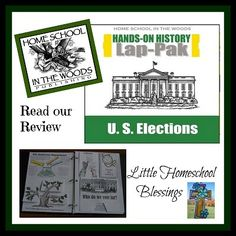 Little Homeschool Blessings: Home School in the Woods: HISTORY Through the Ages Hands-on History Lap-Pak: U.S. Elections {Review} #lapbook #U.S.elections #history