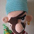 PIRAAT. Patroon van Delicious crochet. Gehaakt met