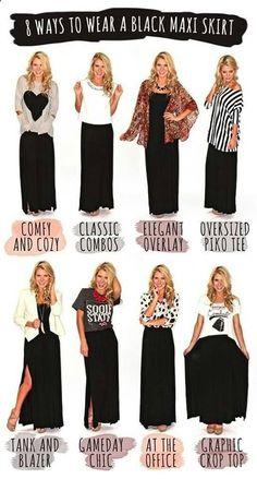 8 Ways to Wear a Maxi Skirt