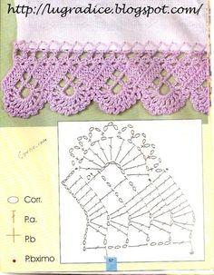 Delicadezas en crochet Gabriela: _5_ Modelos de puntillas decorativas