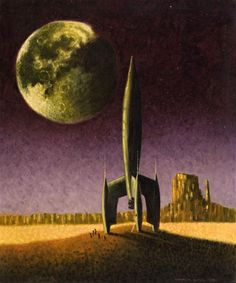 Donald Bard - Space Odyssey, 1951. / The Science Fiction Gallery