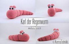 Regenwurm,Amigurumi,Häkeln,Anleitung,Tiere,Kostenlos,free PAtterns,Häkeln, crochet,