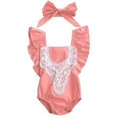 Cheap bodysuit kids, Buy Quality toddler bodysuits directly from China kids bodysuit Suppliers: 2017 New Baby Girl Clothes Toddler Infant Kids Splice Lace Bodysuit Jumpsuit Sunsuit Outfits Cute Bowknot Headband Woodsy Baby Showers, Baby Shower Fall, Boy Shower, Lace Romper, Lace Bodysuit, Maternity Photography Props, Fashion Leaders, Baby Girl Princess, Lace