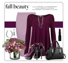 """PLUM"" by arjanadesign ❤ liked on Polyvore featuring Boohoo, Phase Eight, Allstate Floral, Lord & Taylor, Vision and Smashbox"