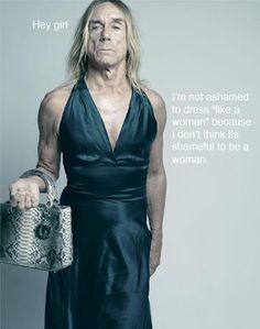 Transvestite Iggy Pop - not only a nice dress, but very uplifting & inspiring..