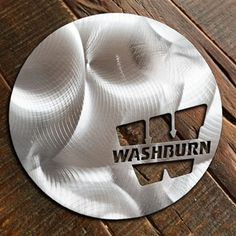 """4"""" Round Washburn University stainless steel coasters. Square coasters also available at ssdesignconcepts.com #stainlesssteel #ichabods Washburn University, Coasters, Decorative Plates, Stainless Steel, Home Decor, Homemade Home Decor, Decoration Home, Room Decor, Coaster"""