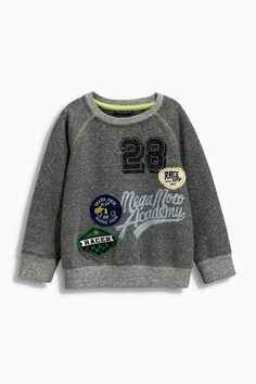 Buy Grey Badged Crew (3mths-6yrs) from the Next UK online shop