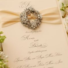 Jewelled Wedding Stationery – The Knot