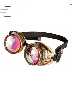 Complete your Steampunk costume with an accessory unlike any other! These goggles take classic Steampunk style goggles and add holographic lenses! This kaleidoscope effect creates a unique accessory everyone will want to get another look at! Steampunk Top Hat, Steampunk Goggles, Steampunk Design, Steampunk Costume, Steampunk Clothing, Steampunk Fashion, Steampunk Outfits, Steampunk Weapons, Steampunk Accessories