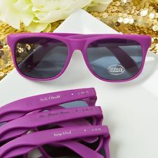 150 Personalized Purple Fashion Sunglasses Wedding Party Favors