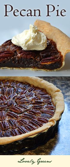 Pecan Pie - the classic Autumn Dessert ~ For the Pastry cup Butter, chilled 1 cup Flour tsp Salt 3 Tbsp Cold water For the Filling 1 cup, packed Brown Sugar cup Golden Syrup* 2 Tbsp dark Rum cup Butter 3 large Eggs 1 tsp Vanilla tsp Salt 2 cup Pecans~~ Fall Desserts, Just Desserts, Delicious Desserts, Yummy Food, Pie Recipes, Sweet Recipes, Dessert Recipes, Recipies, Yummy Treats