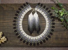 """kate spade new york """"Kate Spade Pendants"""" """"A"""" Pendant Necklace, + Extender - Top Drawer Jewelry African Beads Necklace, Seed Bead Necklace, Heart Pendant Necklace, Seed Beads, Necklace Set, Fringe Earrings, Beaded Earrings, Beaded Jewelry, Handmade Jewelry"""