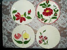 Blue Ridge Pottery Assorted Dessert Plates by AltamontAntiques, $28.00
