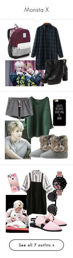 """Monsta X"" by sasha-asher50 ❤ liked on Polyvore featuring Victoria's Secret, M&Co, Olivia Burton, Mother of Pearl, Casetify, Skullcandy, Toast, Nasaseasons, Chanel and WithChic"