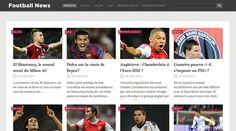 Hikkoshi, Free WordPress Showcase Football Theme