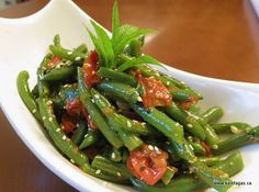 Warm Bean Salad With Cherry Tomatoes