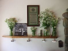 love her ever-changing mantel, and the silver clips.
