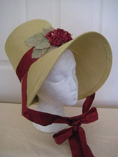 Regency Bonnet. Jane Austen. CUSTOM MADE to your design. Stovepipe and Poke Bonnets all styles and fabric and trim. BY REGENCY REGALIA ON ETSY
