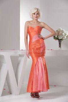 prom dress,prom dresses,prom dress,prom dresses mermaid/trumpet taffeta sweetheart natural waist zipper sleeveless beading orange prom dress