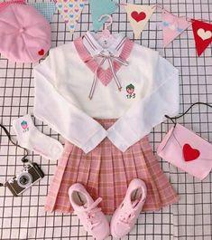 Daddykink - Photos - inocent and hot Ulzzang Fashion, Harajuku Fashion, Kawaii Fashion, Lolita Fashion, Cute Fashion, Anime Outfits, Girl Outfits, Fashion Outfits, Aesthetic Fashion