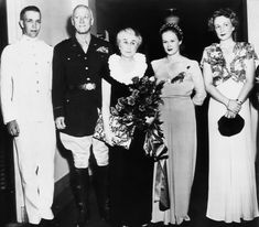 """General Patton Reunited With His Family. His daughter, Beatrice """"Bonnie,"""" is second from right. World History, World War Ii, George Patton, Unsung Hero, Military Pictures, Second World, Military History, Historical Photos, Memoirs"""