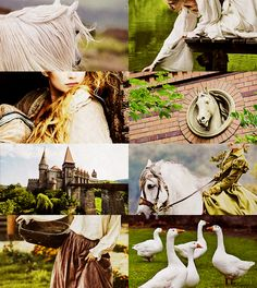 The goose girl. Geese always reminded me of childhood fairytales.