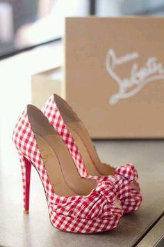 Gingham high heels