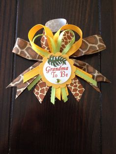 This cute Grandma to be corsage is a nice memento to give to any grandma to be! Such a nice way to include them in the festivities! Made with