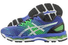 Asics Gel-Nimbus 17 T507N-5901 Royal White Green Mesh Running Shoes Medium Men